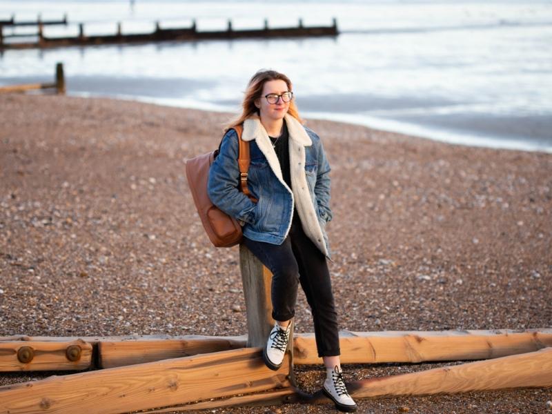 Georgina Smith at Bognor Regis Beach