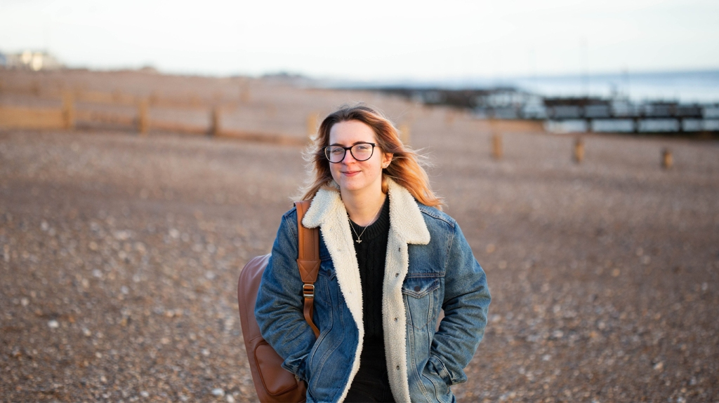 Photograph of Georgina from GS Creative Photography on Bognor Regis Beach, West Sussex